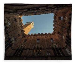 Torre Del Mangia Siena Italy  Fleece Blanket