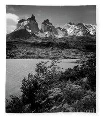 Torres Del Paine National Park Fleece Blanket