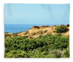 Torrey Pines California - Chaparral On The Coastal Cliffs Fleece Blanket