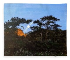 Torrey Pines In The Morning Fleece Blanket