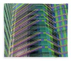 Abstract Angles Fleece Blanket