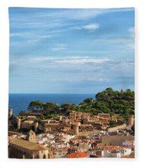 Tossa De Mar Seaside Town In Spain Fleece Blanket