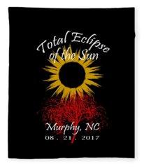 Total Eclipse T-shirt Art Murphy Nc Fleece Blanket