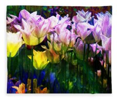 Totally Tulips Fleece Blanket