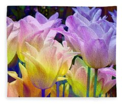 Totally Tulips Two Fleece Blanket