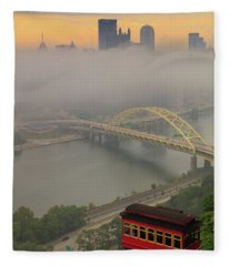 Touch Of Fog  Fleece Blanket