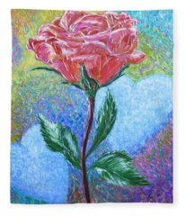 Touched By A Rose Fleece Blanket