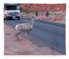Tourists Intrusion In Nature Fleece Blanket
