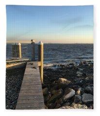 Towards The Bay Fleece Blanket