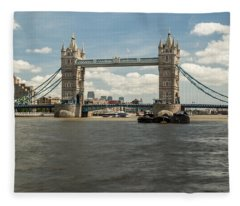 Tower Bridge A Fleece Blanket