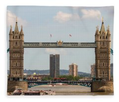 Tower Bridge C Fleece Blanket