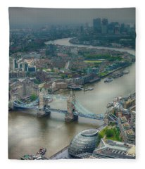 Fleece Blanket featuring the photograph Tower Bridge In London by Chris Cousins