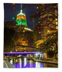 Tower Life Riverwalk Christmas Fleece Blanket