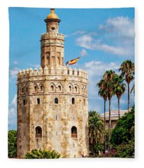 Tower Of Gold Fleece Blanket