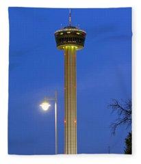 Tower Of The Americas Fleece Blanket