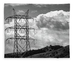 Tower On The Hill Fleece Blanket