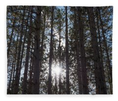 Towering Pines Fleece Blanket