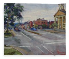 Town Of Canandaigua Ny Fleece Blanket
