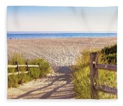 Tracks In The Sand - Cape May Fleece Blanket