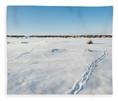 Tracks In The Snow Fleece Blanket