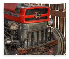 Tractor Grill  Fleece Blanket
