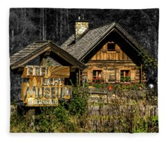 Traditional Austrian Wooden House Fleece Blanket