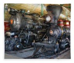Train - Engine - Steam Locomotives Fleece Blanket
