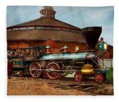 Train - Civil War - General Haupt 1863 Fleece Blanket