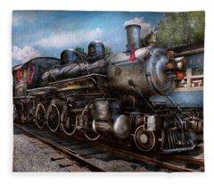 Train - Steam - 385 Fully Restored  Fleece Blanket