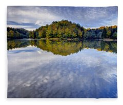 Trakoscan Lake In Autumn Fleece Blanket