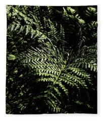 Tranquil Botanical Ferns Fleece Blanket