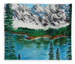 Tranquil Countryside  Fleece Blanket