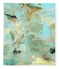 Tranquil Escape- Abstract Art By Linda Woods Fleece Blanket