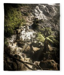 Tranquil Mountain Canyon Fleece Blanket