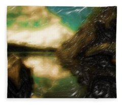 Tranquil Nature Awaits Fleece Blanket