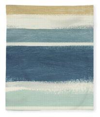 Tranquil Stripes- Art By Linda Woods Fleece Blanket