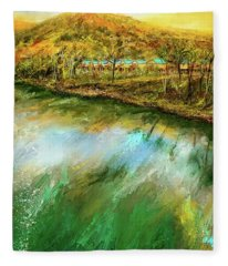 Tranquility Cottages - Anglers White River Resort Arkansas - Mountain View, Arkansas Fleece Blanket
