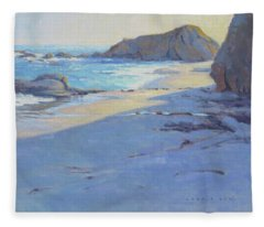 Tranquility Study / Laguna Beach Fleece Blanket