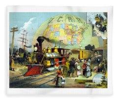 Transcontinental Railroad Fleece Blanket