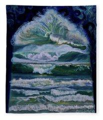 Transformed By God-waves Of Glory Fleece Blanket