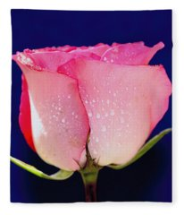 Translucent Rose Fleece Blanket