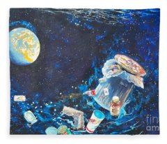 We Loved Earth At One Time - Yes We Did. Fleece Blanket