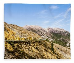 Travelling Rugged Alps Fleece Blanket