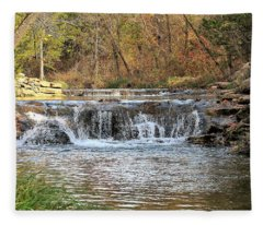 Travertine Creek Waterfall Fleece Blanket
