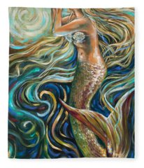 Treasure Mermaid Fleece Blanket