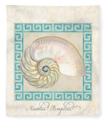 Treasures From The Sea - Nautilus Shell Interior Fleece Blanket