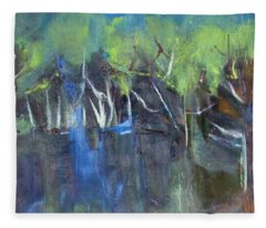 Tree Imagery Fleece Blanket