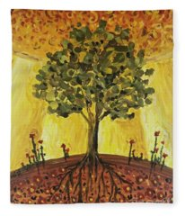 Tree Of Life Fleece Blanket