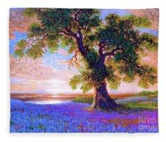 Tree Of Tranquillity Fleece Blanket