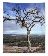 Fleece Blanket featuring the photograph Tree On Enchanted Rock - Square by Todd Aaron